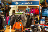 Columbia clothing section in a supermarket Siam Paragon in Bangkok, Thailand. — Stock Photo