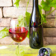 Wineglass of red wine — Stock Photo