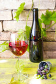 Wineglass of red wine — Stockfoto