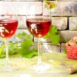 Two glasses of red wine — Stock Photo