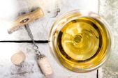Witte wijn — Stockfoto
