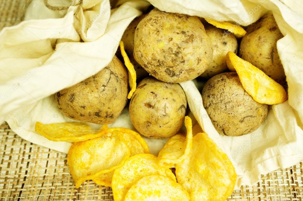 Как с картошки сделать чипсы