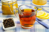 Honey, lemon, tea — Stock Photo