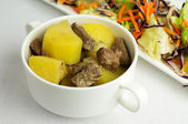 Beef stew with potatoes — Stock Photo