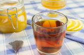 Honey, lemon, tea — Stockfoto