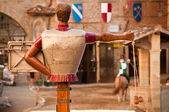 A horse tournament, Tuscany, Italy — Stock Photo