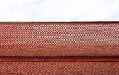 Texture of brown rooftop in temple. — Foto de Stock