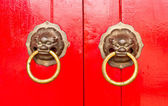 Old red chinese door — ストック写真