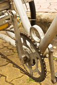Old bicycle crank set pedal — Stock Photo