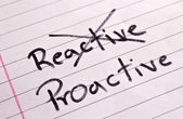 Reactive and Proactive concept — Stock Photo