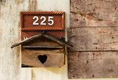 木製メール ボックス — ストック写真