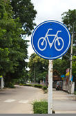 Bicycle sign, Bicycle Lane — Stock Photo