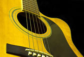 Acoustic guitar close up — Stock Photo