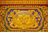 Gold stucco design of native thai style — Photo