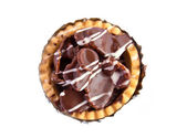 Set of tasty tartlets with chocolate — Stock Photo