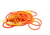A Colorful rubber bands isolated — Stock Photo