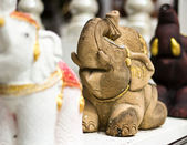 Stone elephant statue — Stock Photo