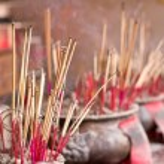 Burning incense sticks — Stock Photo #43109659