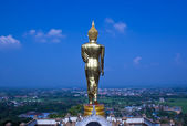 Black golden buddha statue  — Стоковое фото