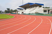 Stadium and runing track and field area  — Stockfoto