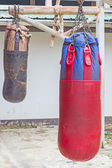 Boxing bags hanging at sports gym. — ストック写真