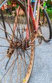 Vieux vélo rouillé closeup — Photo
