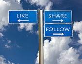 Social media sign  — Stock Photo