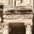 Detail of the library of Celsus in Ephesus — Zdjęcie stockowe