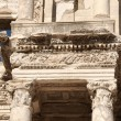 Detail of the library of Celsus in Ephesus — 图库照片