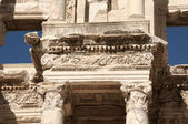 Detail of the library of Celsus in Ephesus — Stock Photo