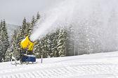 Working snowgun in the photo — Stock Photo