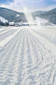 Snowcat trail — Stock Photo