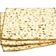Unleavened bread on white — Stock Photo