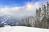 Mountain ski resort — Foto Stock