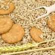 Oat and cookies — Stock Photo