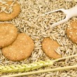 Oat and cookies — 图库照片