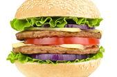 Hamburger isolated — Stock Photo