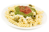 Pasta dish on white — Stock Photo