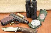 Hunting tools — Stock Photo