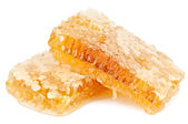 Honeycomb on white — Stockfoto
