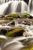 Waterfall and stones — Stock Photo