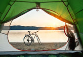 Bike on the shore — Stock Photo