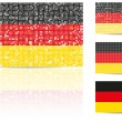 German Flag - Stock Vector