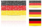 German Flag — Stock Vector