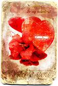 Vintage love card — Stock Photo