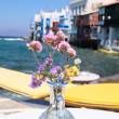 Stock Photo: View of Little Venice in Mykonos