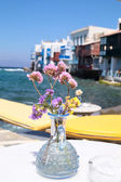 A view of Little Venice in Mykonos — Stock Photo