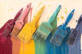 Colorful brushes — Stock Photo
