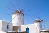 Windmills in Mykonos — Stock Photo