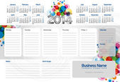 Week planner 2014 — Stock Vector